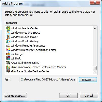 how to add game to firewall
